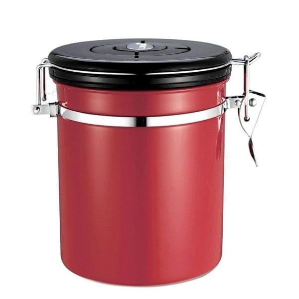 hũ đựng cafe degas coffee bean degas container đỏ