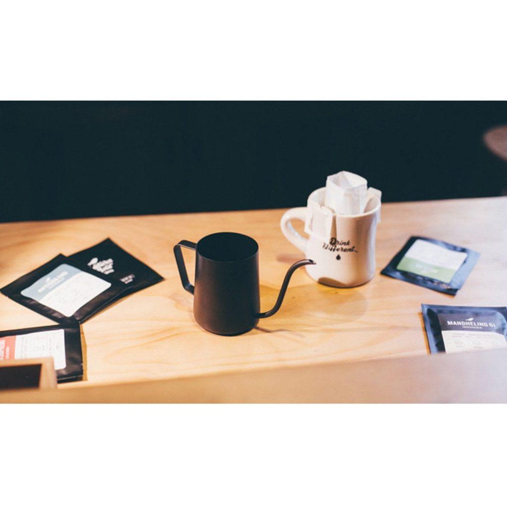 kettle mini - ca rot nuoc soi pha pour over drip coffee den 250ml