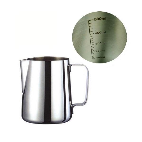 mua ban ca danh sua inox chuyen nghiep cho cappuccino, latte art co vach chia