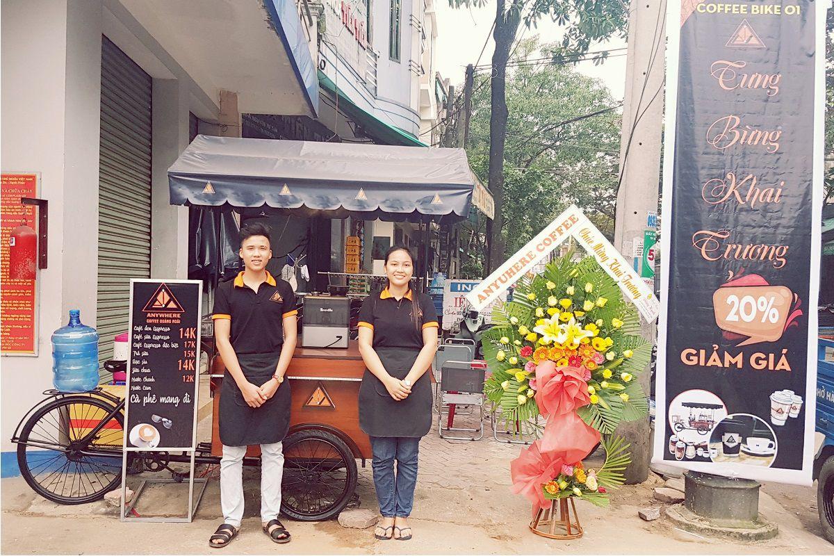 nhượng quyền cafe espresso anywhere coffee quảng ngãi chi nhánh 4