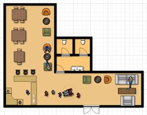 Website thiết kế miễn phí bản vẽ không gian quán cafe đẹp