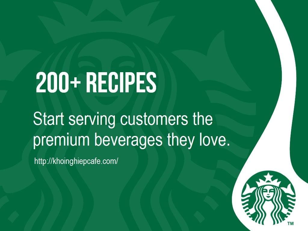 200 công thức Starbucks