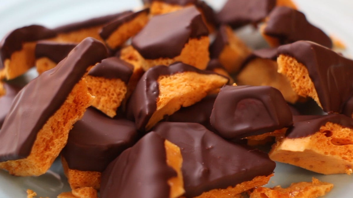 Cách làm kẹo caramen toffee socola - Songe Toffee Chocolate Recipe