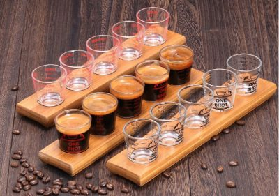 Khay phục vụ cafe espresso 5 ly espresso shot
