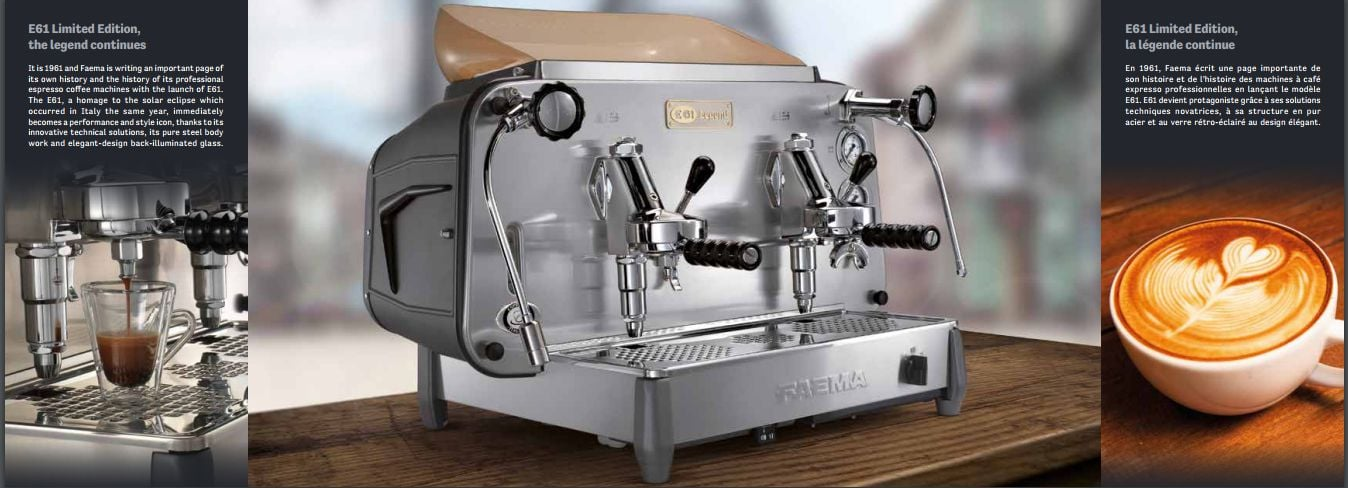 Máy pha cafe espresso chuyen nghiep faema e61 legend italy