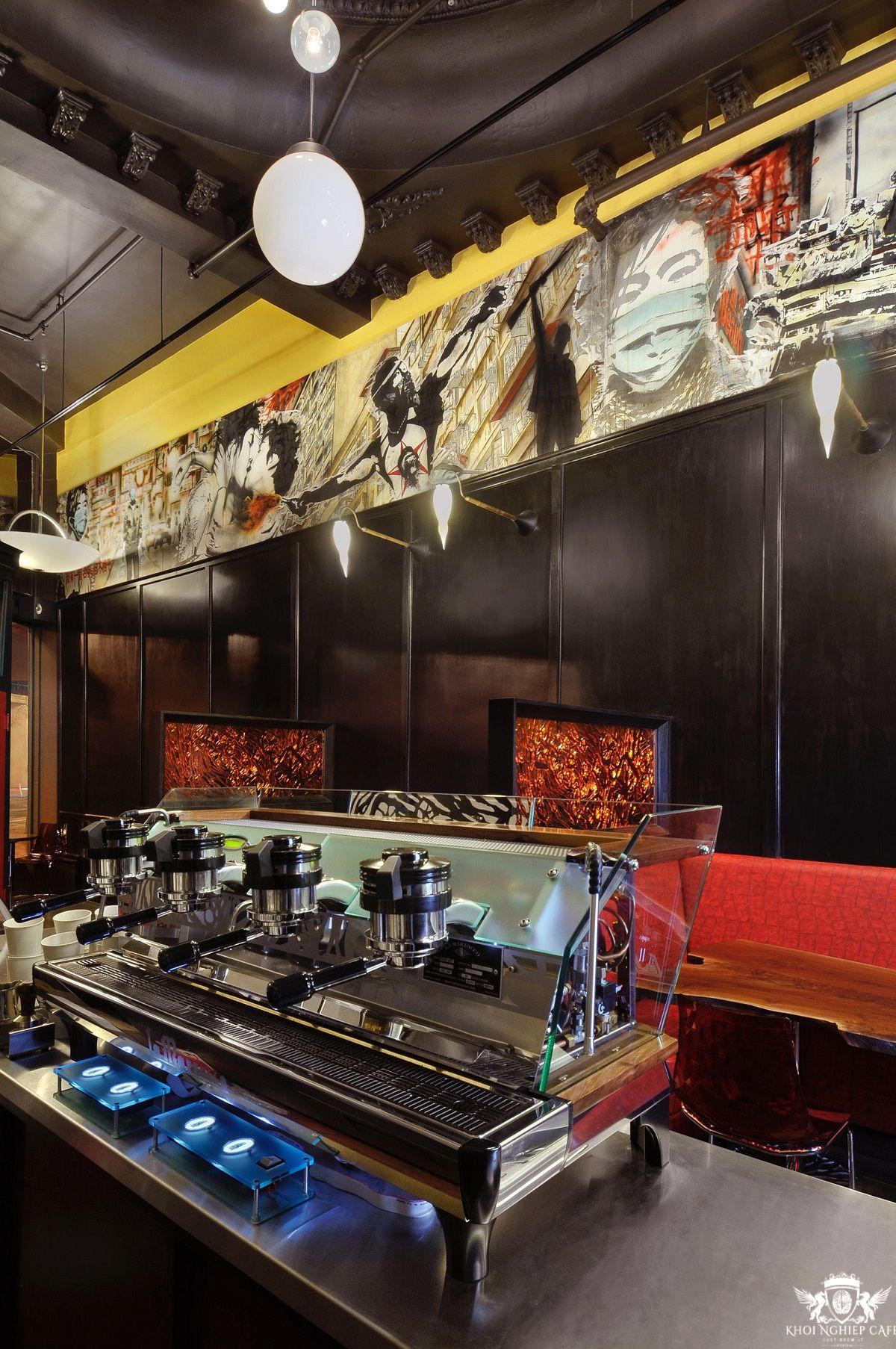 Mavelous Coffee & Wine Bar cach thiet ke bar cafe hien dai sang trong 2018 (3)