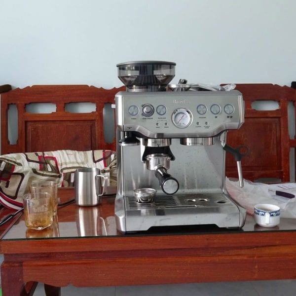 May pha cafe espresso breville 870XL khoi nghiep cafe mr tung binh phuoc