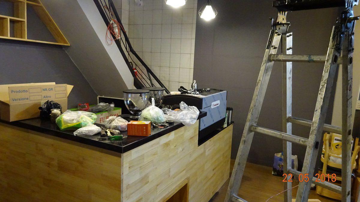 May pha cafe espresso faema e98 a2 may xay cafe hc600 khoi nghiep cafe coc cafe quan 4 hcm