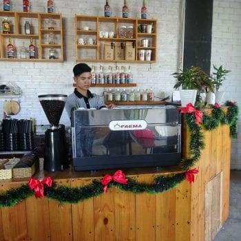 May pha cafe espresso faema e98 s2 may xay cafe hc600 khoi nghiep cafe play time binh duong