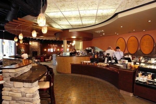 Mind & Hearth Coffee House o dai hoc Whitworth mau quan cafe dep 2018