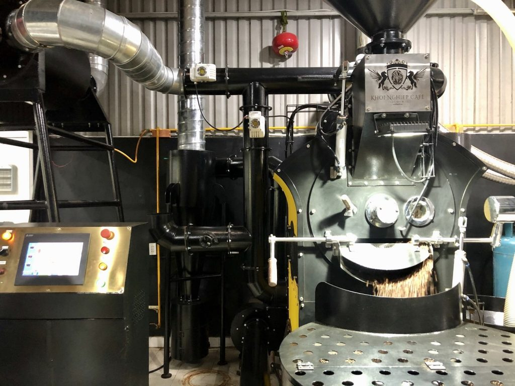 Sale 30kg Automatic Hot Air Coffee Roaster Machine Commercial Vietnam