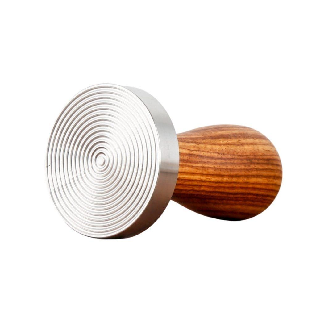 Tamper nén cafe 58 mm Ripple tay cầm gỗ hcm