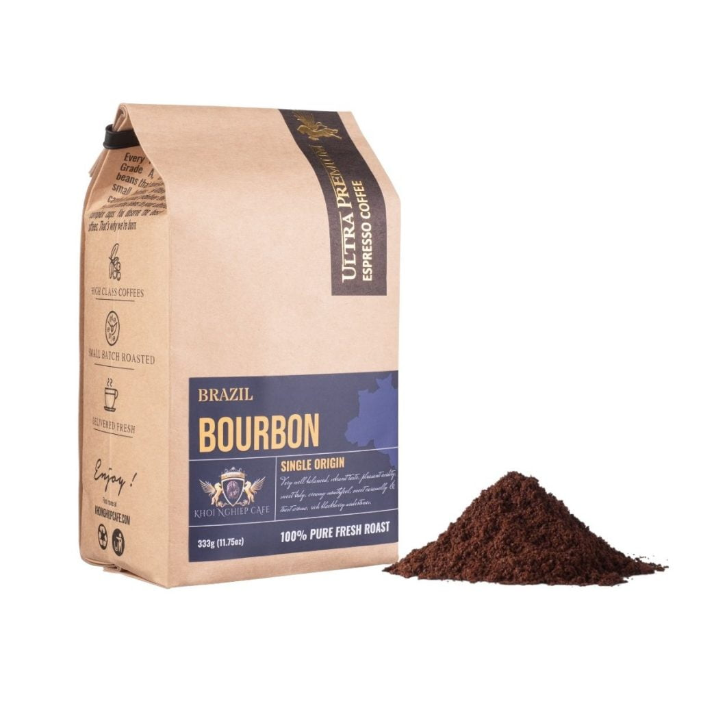 khoi nghiep cafe bot arabica bourbon brazil chau my cao cap pha phin viet nam qua tang