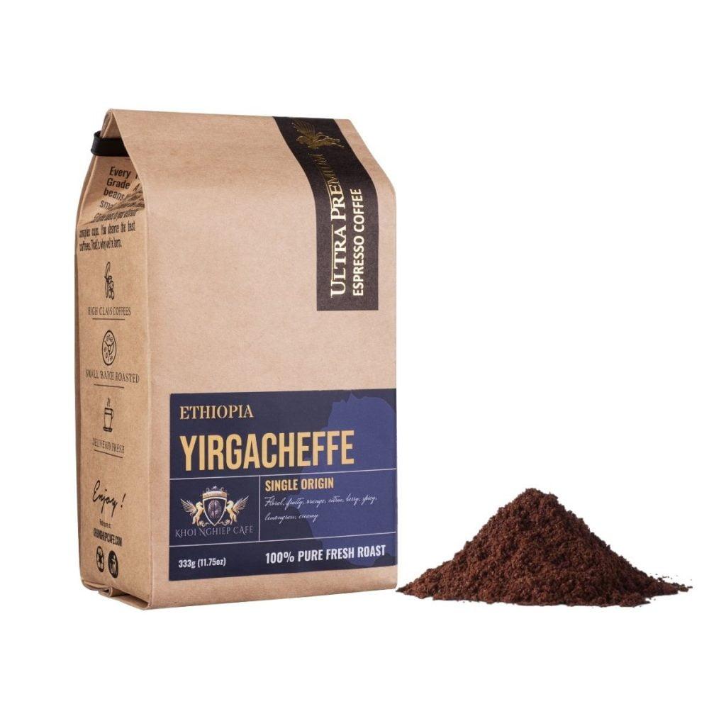 khoi nghiep cafe bot arabica yirgacheffe ethiopia chau phi cao cap pha phin viet nam qua tang