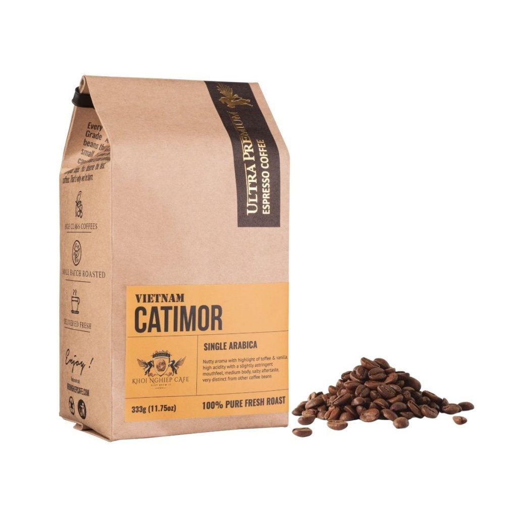khoi nghiep cafe hat arabica catimor cau dat da lat cao cap nguyen chat sach 100 pha may espresso chuan y qua tang viet nam