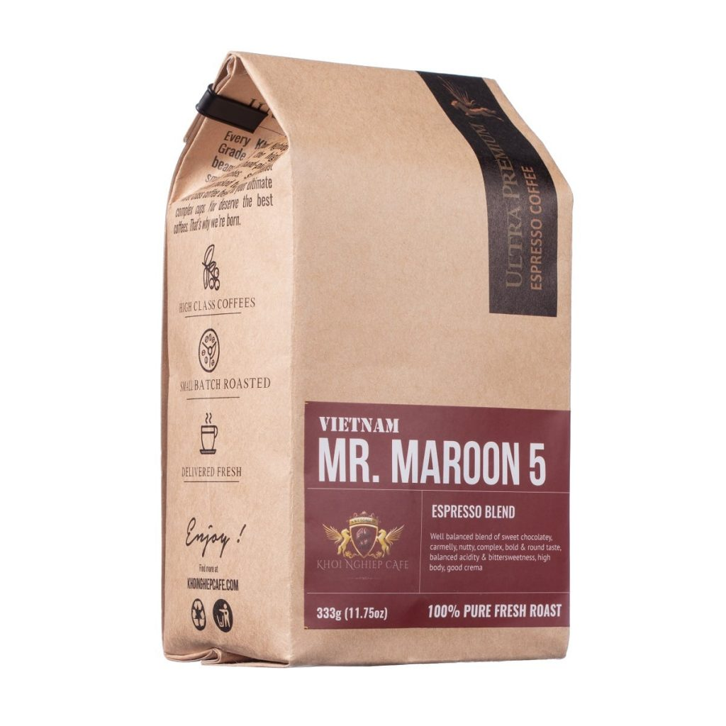 khoi nghiep cafe mr maroon 5 cafe hat cao cap chuan y pha may espresso vietnam