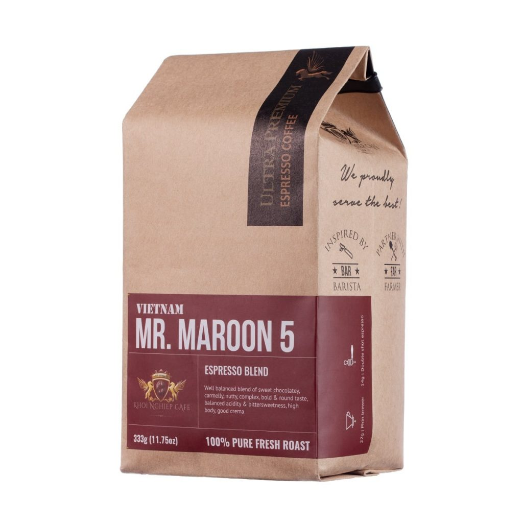 khoi nghiep cafe mr maroon 5 cafe hat cao cap chuan y pha may espresso vietnam hcm
