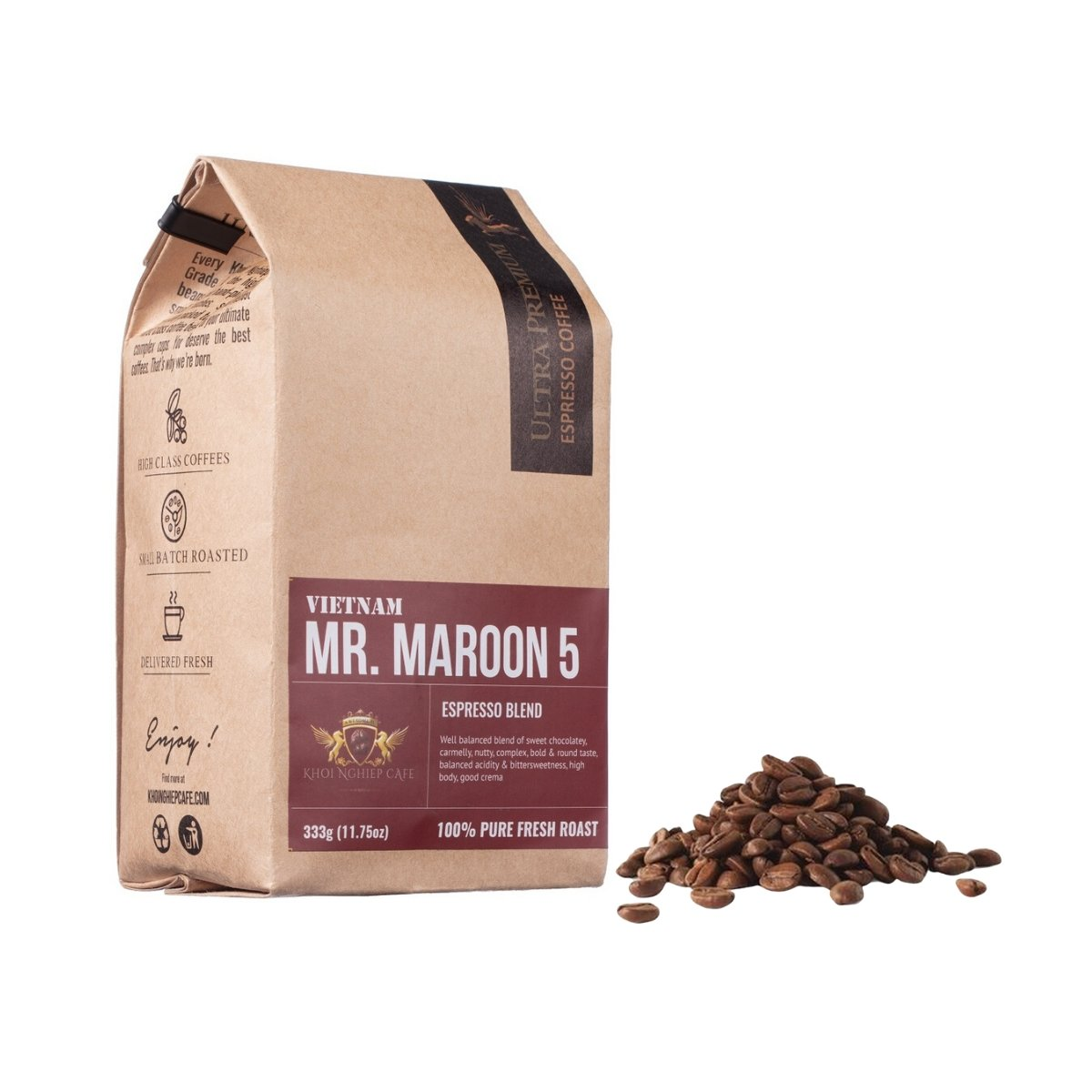 khoi nghiep cafe mr maroon 5 cafe hat ngon chuan y pha may espresso vietnam hcm