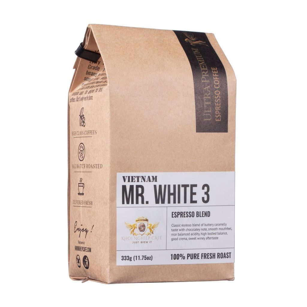 khoi nghiep cafe mr white 3 cafe hat cao cap chuan y pha may espresso vietnam