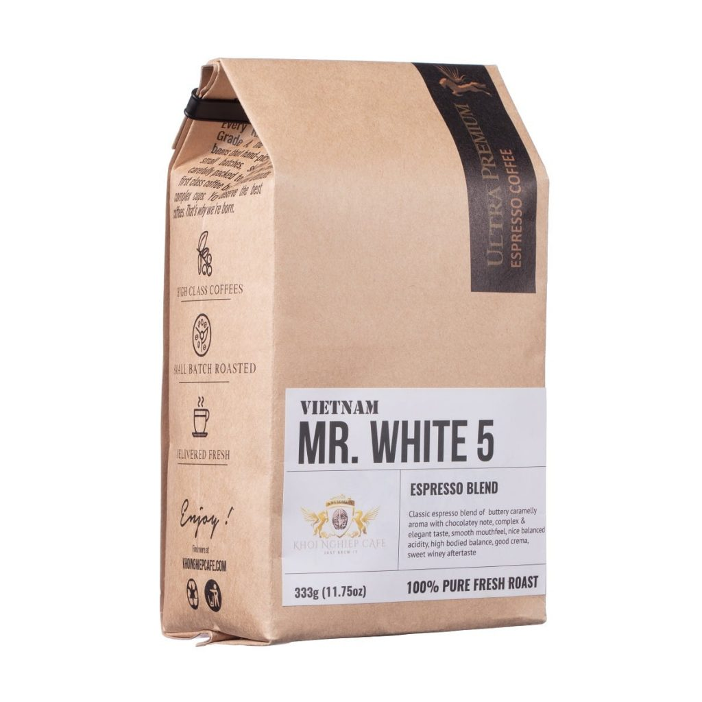 khoi nghiep cafe mr white 5 cafe hat cao cap chuan y pha may espresso vietnam