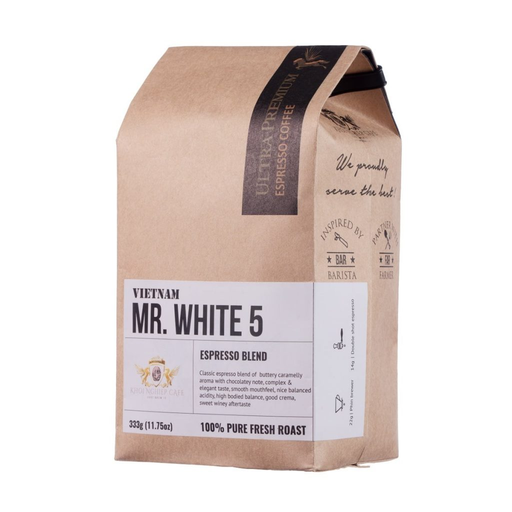 khoi nghiep cafe mr white 5 cafe hat cao cap chuan y pha may espresso vietnam hcm