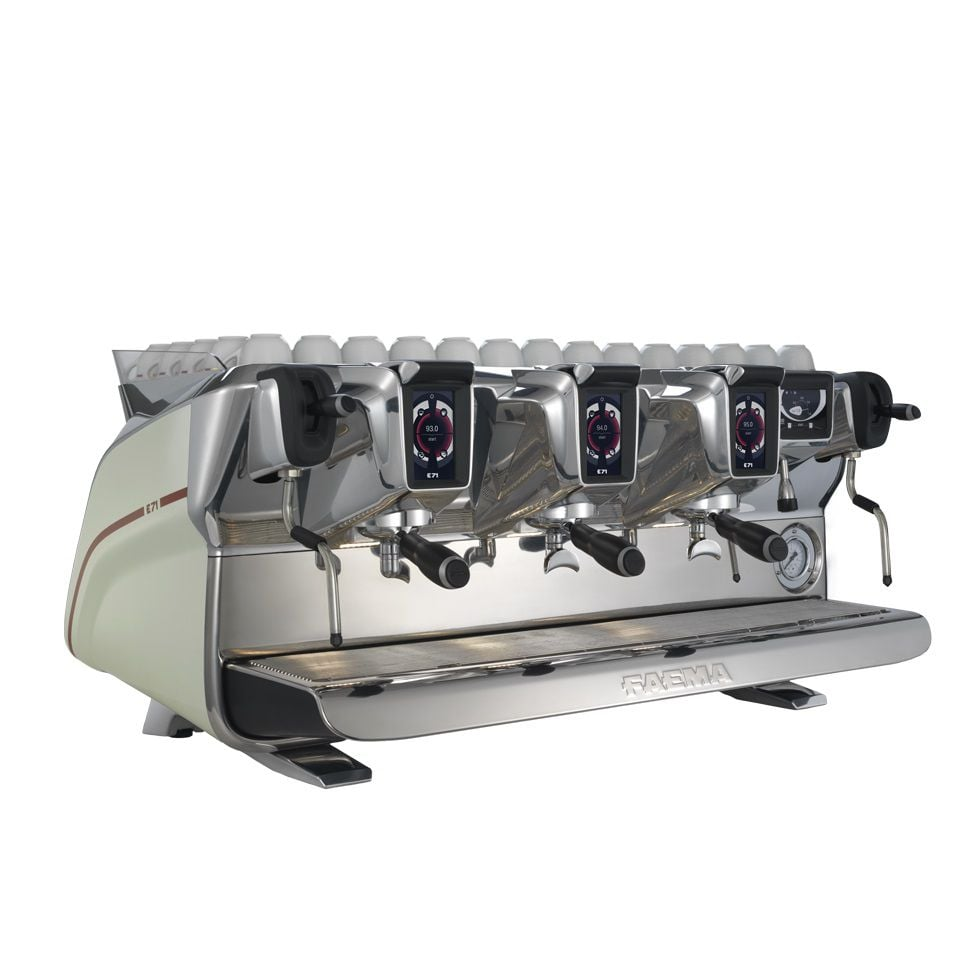 may pha cafe espresso chuyen nghiep italy faema e71 3 groups side 2